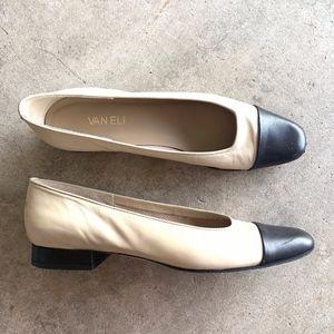 Vaneli Slip-on Pointy-Toe Kitten Heels Flats Shoes